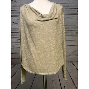 NWT Apt 9 Dropped Shoulder Sweater XL Gold Sparkle